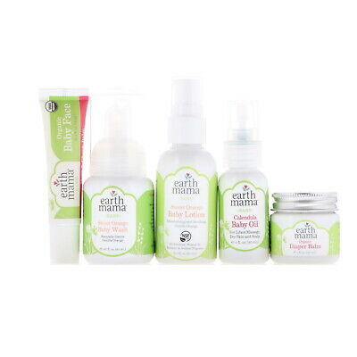 Earth Mama A Little Something for Baby 5 Piece Set All-Natural, Non-Toxic
