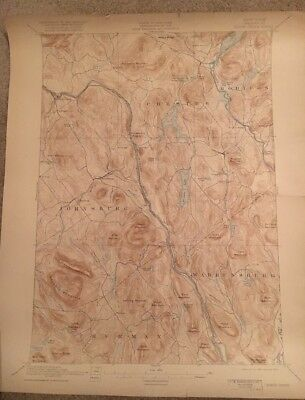 USGS Topographic Map 1897 Data NORTH CREEK QUADRANGLE NEW YORK