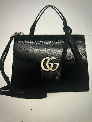 b2ff453103bbec Gucci Gg Marmont Top Handle Bag. Blck, Bought At Saks, Perfect Condition.