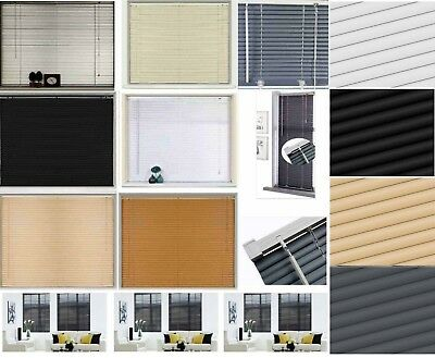 Easy Fit PVC Venetian Window Blinds Long 150 - 210CM DROP STANDARD Trimmable