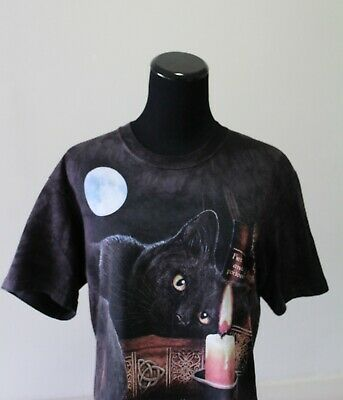 Women's Black Cat Witching Hour The Mountain Brand Size Small