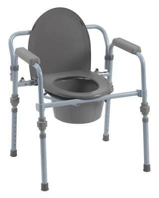 Folding Bedside Commode with Bucket and Splash Guard [ID 109800]