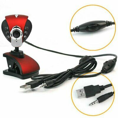 USB 2.0 50.0M 6 LED PC Camera HD 1080P Webcam Camera with Microphone for Compute
