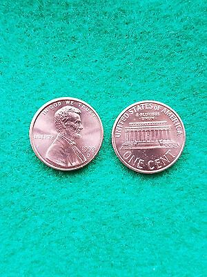 1993  D Uncirculated Lincoln Memorial Cent Penny BU