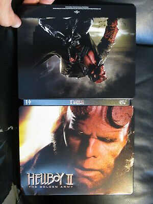 Hellboy 2 Blu-Ray Steelbook [UK] Region Free Del Toro Universal Sci-Fi *Read*