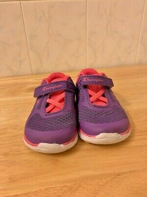 e97c5dd8b CHAMPION BRAND TODDLER Girls Gray Pink Shoes Size 4W Sneakers ...