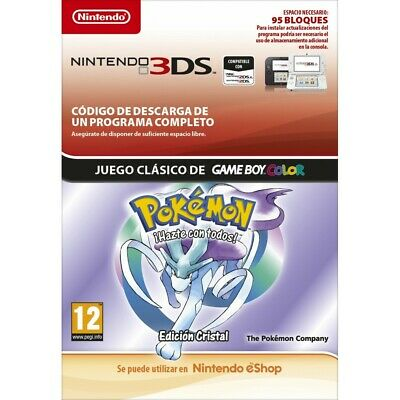 Pokémon Crystal Edition Spanish Nintendo 3Ds Digital Download Code Virtual Conso