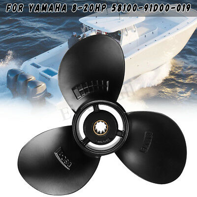 9 1/4 x 8 Aluminum Propeller For Suzuki Outboard Engine 8-20HP 58100-91D00-019