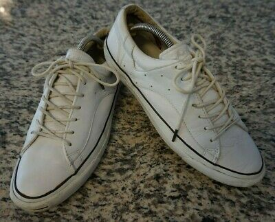bf43b3dfffa7 Jack Purcell Converse Racearound White Leather Sneaker Shoes Men s Size 9.5