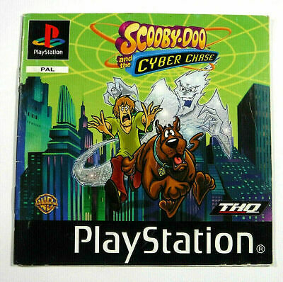 Scooby Doo Cyber Chase Instruction Manual Booklet PS1 Playstation 1