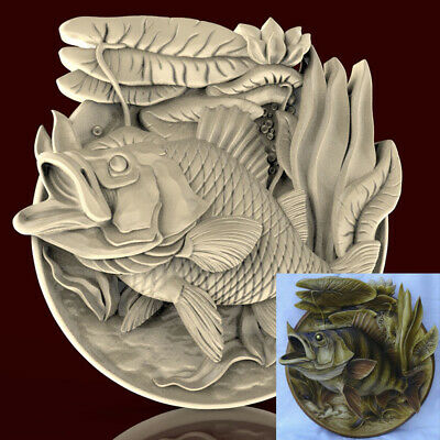 3d STL Model CNC AP002 (Plate Fish) Engraver Carving Machine Relief Artcam