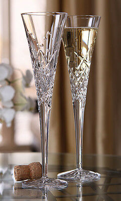 Waterford Wishes Happy Celebrations Block Letter L Toasting Flutes Set Of 2