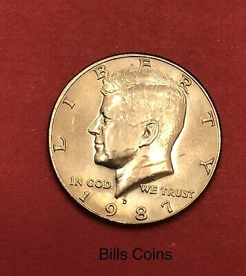 IN MINT CELLO BU 1987 Uncirculated P/&D Kennedy Half dollars set