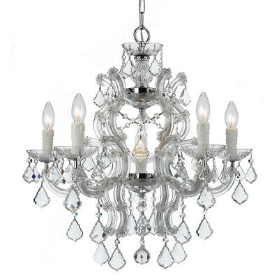 Crystorama 4335-CH-CL-MWP Maria Theresa Chandelier Polished Chrome
