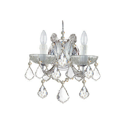 Crystorama 4472-CH-CL-I Maria Theresa Wall Sconce Polished Chrome