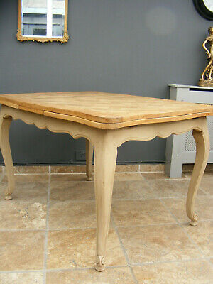 Vintage french louis xv antique style draw leaf extending kitchen / dining table