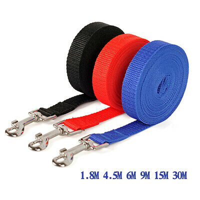 1.8/4.5/6/9/15/30M Long Lead Leash Dog Walking Running Pet  Durable Fun New