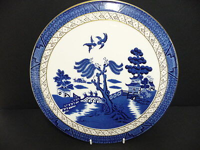 """Royal Doulton Booths Real Old Willow Pattern Cake Plate 11"""""""