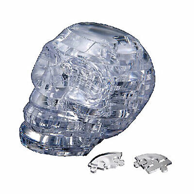 3D Crystal Puzzle Skull Clear 50 Pieces With LED Light