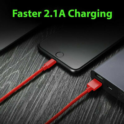 1M Braided USB Quick Charger Data Charging Cable Lead For iPhone 7 8 6 5s X