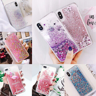 For iPhone 7/7S Phone Dynamic Quicksand Glitter Flowing Bling Liquid Soft Cover
