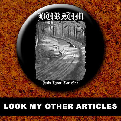 MAYHEM BVRZUM DEAD EURONYMOUS New Badge Button Chapa Pin 38mm BLACK METAL 007