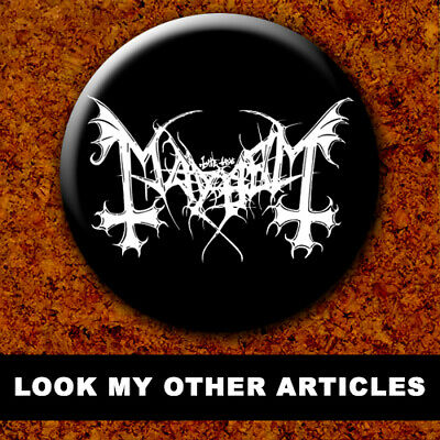 MAYHEM BVRZUM DEAD EURONYMOUS New Badge Button Chapa Pin 38mm BLACK METAL 012