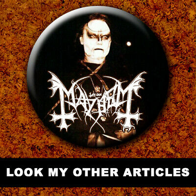 MAYHEM BVRZUM DEAD EURONYMOUS New Badge Button Chapa Pin 38mm BLACK METAL 020