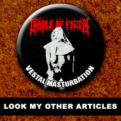 CRADLE OF FILTH New Badge Button Chapa Pin 38mm BLACK METAL 022