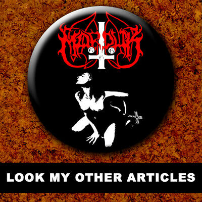 MARDUK New Badge Button Chapa Pin 38mm BLACK METAL 023