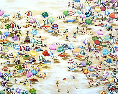 Large abstract art beach Bondi gold coast australia Print canvas COA painting