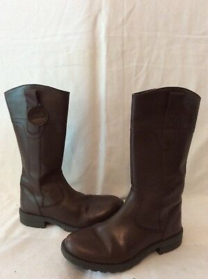 Girls Marks&Spencer Brown Leather Boots Size 1