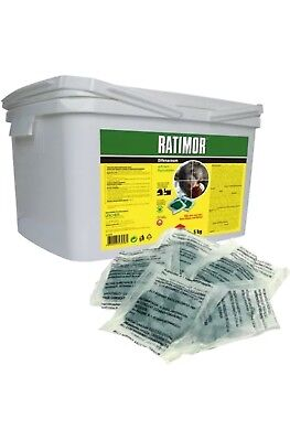 Rat Poison Strong Mouse Mice Rodent Professional Killer Bait Block X10 Rodent