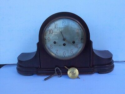 Antique JUNGHANS WURTTEMBERG Westminster Chime Mantle Clock B26 W/ Art Deco Case