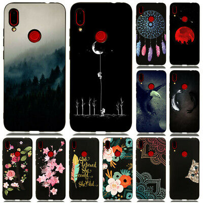 For Huawei P Smart 2019/Y5 Y6 2019/2018 Painting Soft Gel TPU Matte Case Cover