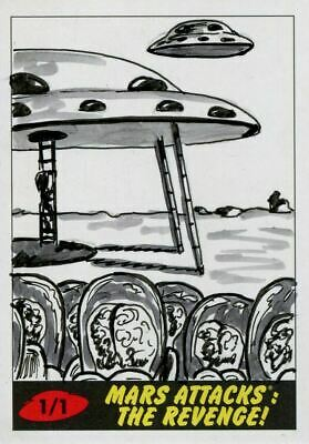 Mars Attacks The Revenge Sketch Card By Marisol Henriquez