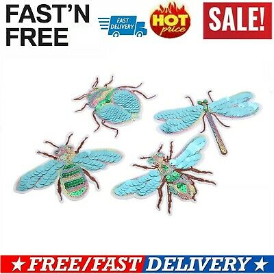 Insect Embroidery Patch Iron On Sew Clothes Bee Applique Badge Hat Shirt Bag DIY
