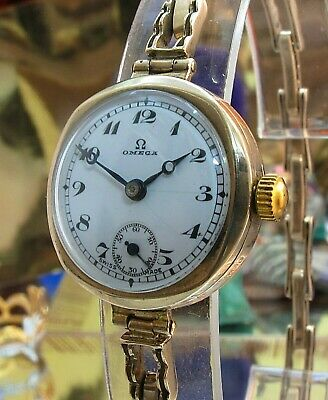 omega 9 Ct Gold Watch Calibre 19.4T2 Circa 1934  Serviced Two Year Warranty