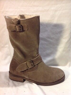 Girls Johnnie b Brown Suede Boots Size 35