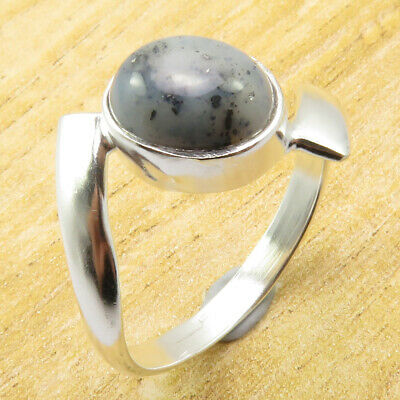 Low Price Dendritic Agate Size 12 Ring OLD STYLE Silver Plated Jewellery NEW