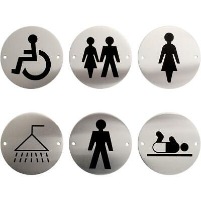 Metal Lavatory Restroom Washroom Toilet Door WC Sign Mens Ladies Unisex Disabled
