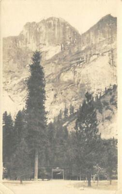 RPPC CAMP CURRY Yosemite National Park, California ca 1910s Vintage Postcard