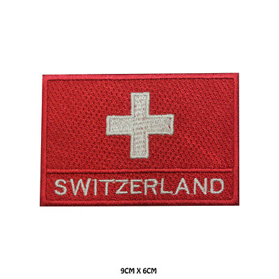 Switzerland National Flag Embroidered Patch Iron on Sew On Badge