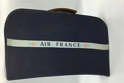 Vintage 60'S Valise Cabine Tissus Brodé Air France Caravelle, Aéroconstellation