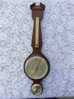 Vintage Sears TRADITION WEATHER STATION BAROMETER THERMOMETER ~ Temp Humidity