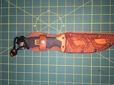 "Sheath Hand Carved Leather Fits up to 6"" X 1.25"" blade Knife"