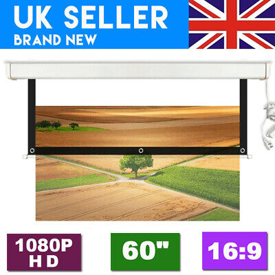"""60"""" 16:9 Home Collapsible Portable Projector Projection Screen W/ Hanging Hole"""