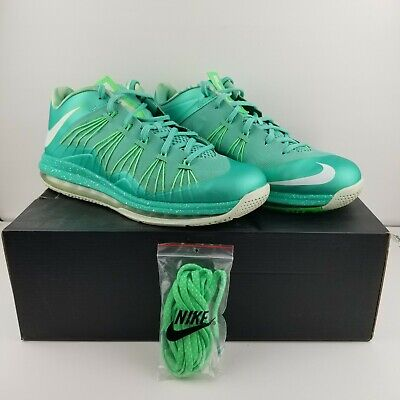 new arrival 5510d cf939 Nike Air Max LeBron 10 X Low Easter Crystal Mint Green 579765-300 Men s Size