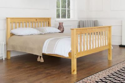AMAZON Solid Pine Bed - Single Double King Size Antique Honey Beautiful Design