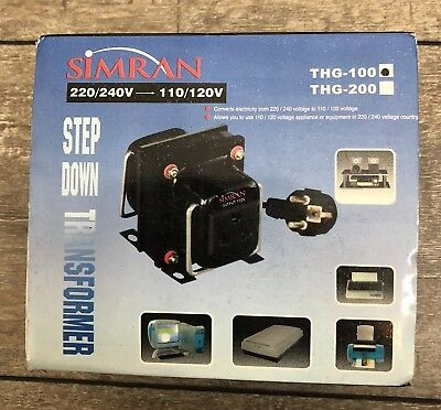New In Box Simran Step Down Transformer 220 240V To 110 120V